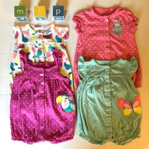 Carter's Lot of 4 Snap Up Bodysuits 6m